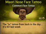 Maori Nose Face Tattoo