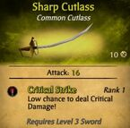 Sharp Cutlass