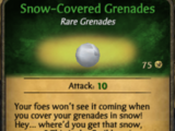 Snow-Covered Grenades