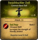 Swashbuckler Doll Card