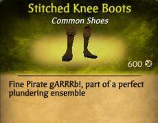 F Stitched Knee Boots