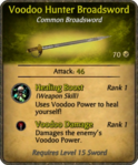 Voodoo Hunter Broadsword Card
