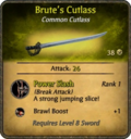 Brute's Cutlass Card