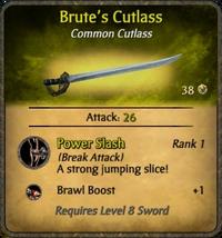 Brute's Cutlass Card