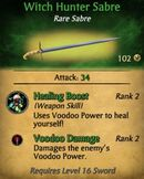 Witch Hunter Sabre