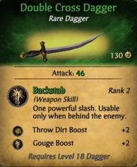 Double Cross Dagger - clearer