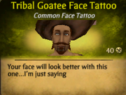 Tribal Goatee Face Tattoo