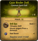 Gaze Binder Doll Card