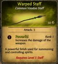Warped Staff