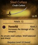 Steel Cutlass