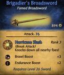 Brigadier's Broadsword