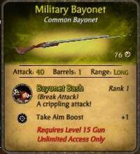 Mil bayonet