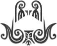 Tattoo face mono maori chin
