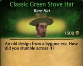 Classic Green Stove Hat M