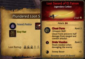 Lost sword loot