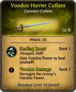 Voodoo Hunter Cutlass Card