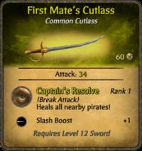 First Mate's Cutlass Card