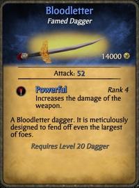 Bloodletter Card