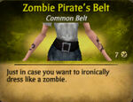 Pirate zombie belt female