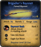 Brigadier's Bayonet card HQ