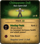 Chimpanzee Doll Card