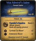 Vice Admiral's Sabre Card
