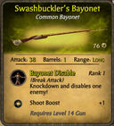 Swashbucklers Bayonet 2010-11-28