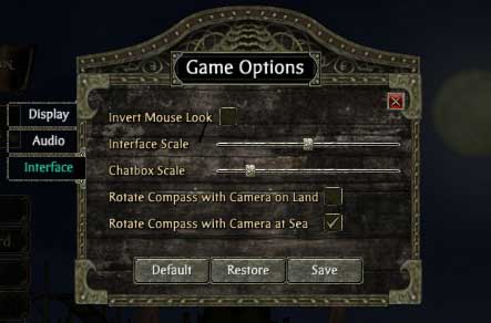 Screenshot compass options