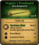 Dragoon's Broadsword