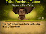 Tribal Forehead Tattoo