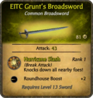 EITC Grunt's Broadsword Card