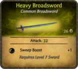 Heavy Broadsword Card