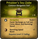 Privateer's Sea Globe Card