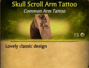SkullScrollArmTat