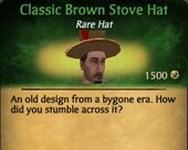 Classic Brown Stove Hat M
