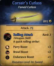 Corsair's Cutlass - clearer