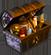 Treasure button chest on