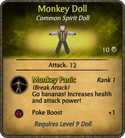 Monkey Doll Card