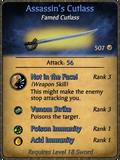Assassin's Cutlass Card