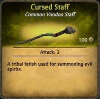 Cursed Staff Card