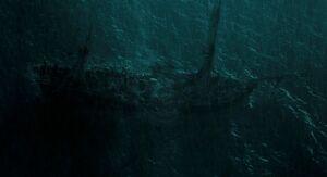 Nave distrutta