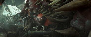 Jack Sparrow vs Kraken