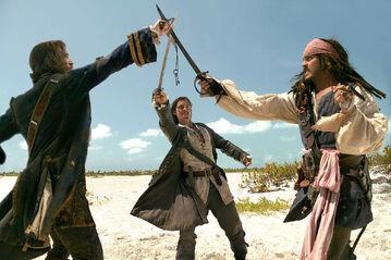 Isla Cruces Norrington vs Will vs Jack