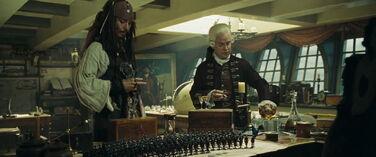 Jack Beckett bevono sulla Endeavour