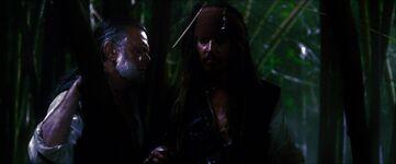 Gibbs e Jack nella foresta