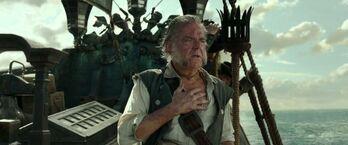 Gibbs omaggia Barbossa