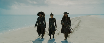 350px-Barbossa, Elizabeth and Jack during the parlay
