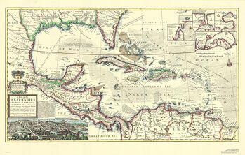 Mappa Caraibi 1715