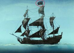 Perla Nera Jolly Roger sbagliato