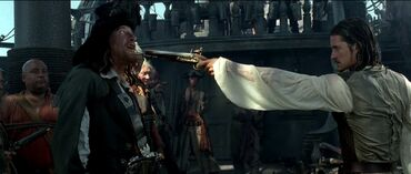 Barbossa si confronta con Will Turner